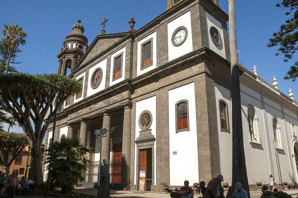 Fachada de la Catedral de La Laguna en la Isla de Tenerife. /