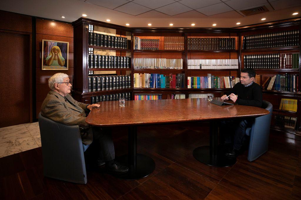 Un momento de la entrevista de este sábado. / Carlos Díaz-Recio