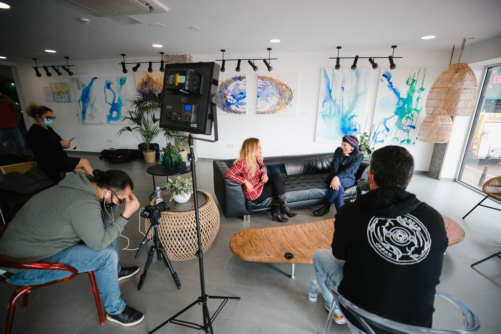 Grabación de la entrevista con Xayo.